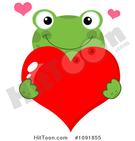 Frog Valentines Day Clipart Images.