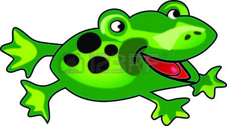Frog Valentines Day Peek Over Clipart Images.
