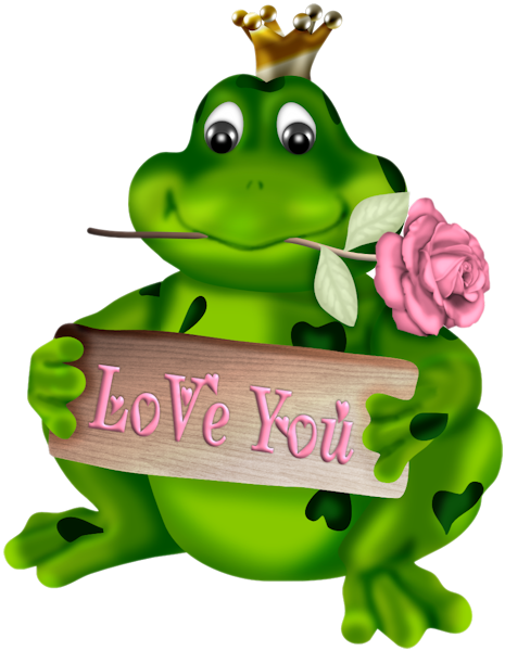 LOVE YOU VALENTINE'S DAY FROG.