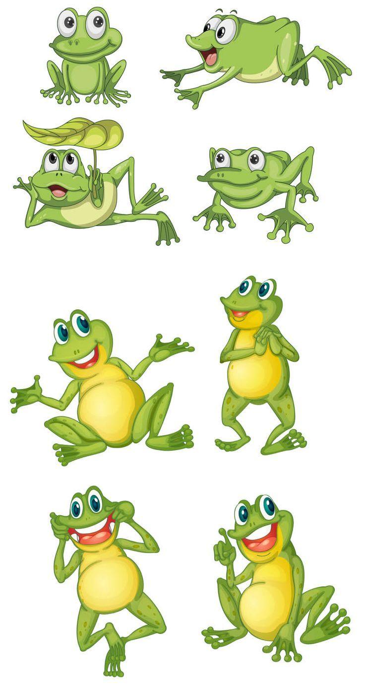 Cartoon Frog Vector.