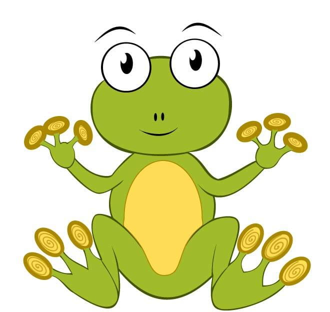 Frog clipart vector eps file.