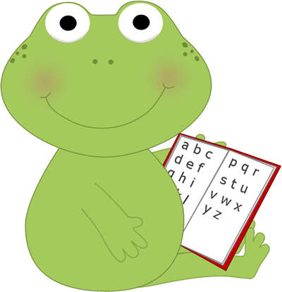 Frog reading.
