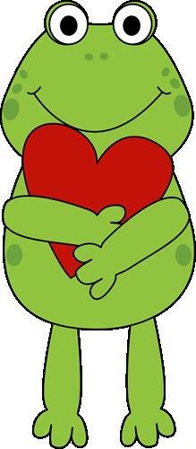 Valentine Frog Clipart.