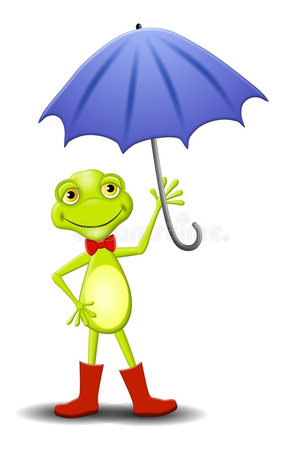 Frog Umbrella Stock Illustrations.
