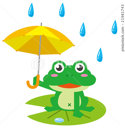 Rainy frog umbrella.