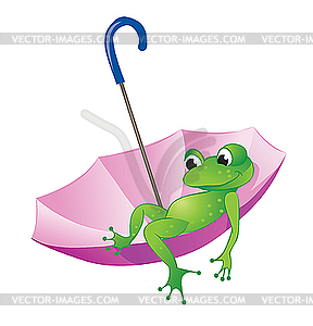 Frog and umbrella.