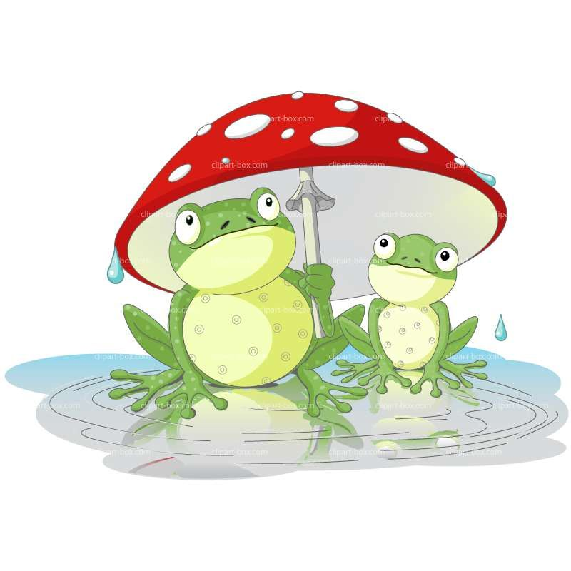 CLIPART FROG UMBRELLA.