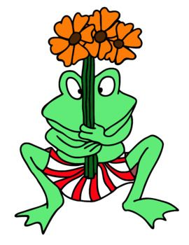 Froggy Goes To School, clip art, Jonathan London inspired.