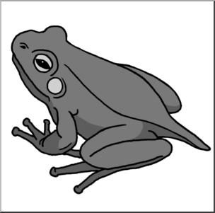 Clip Art: Froglet Grayscale I abcteach.com.