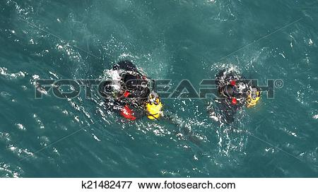 Picture of Frogmen working on the port k21482477.