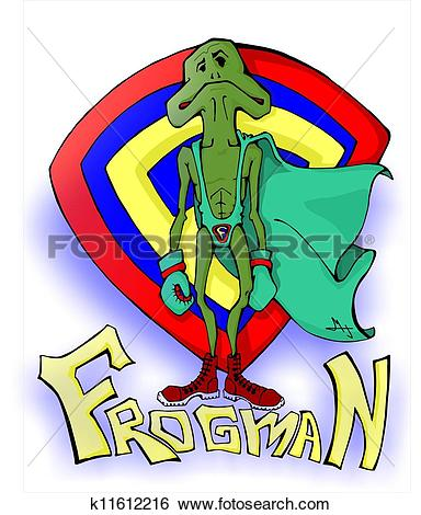 Stock Illustration of Frogman k11612216.