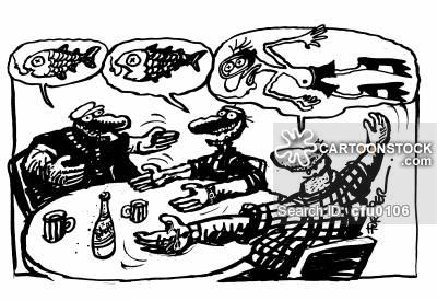 Frogman Cartoons and Comics.