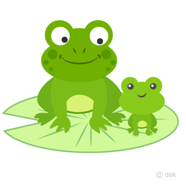 Parent and Child Frogs Clipart Free Picture|Illustoon.