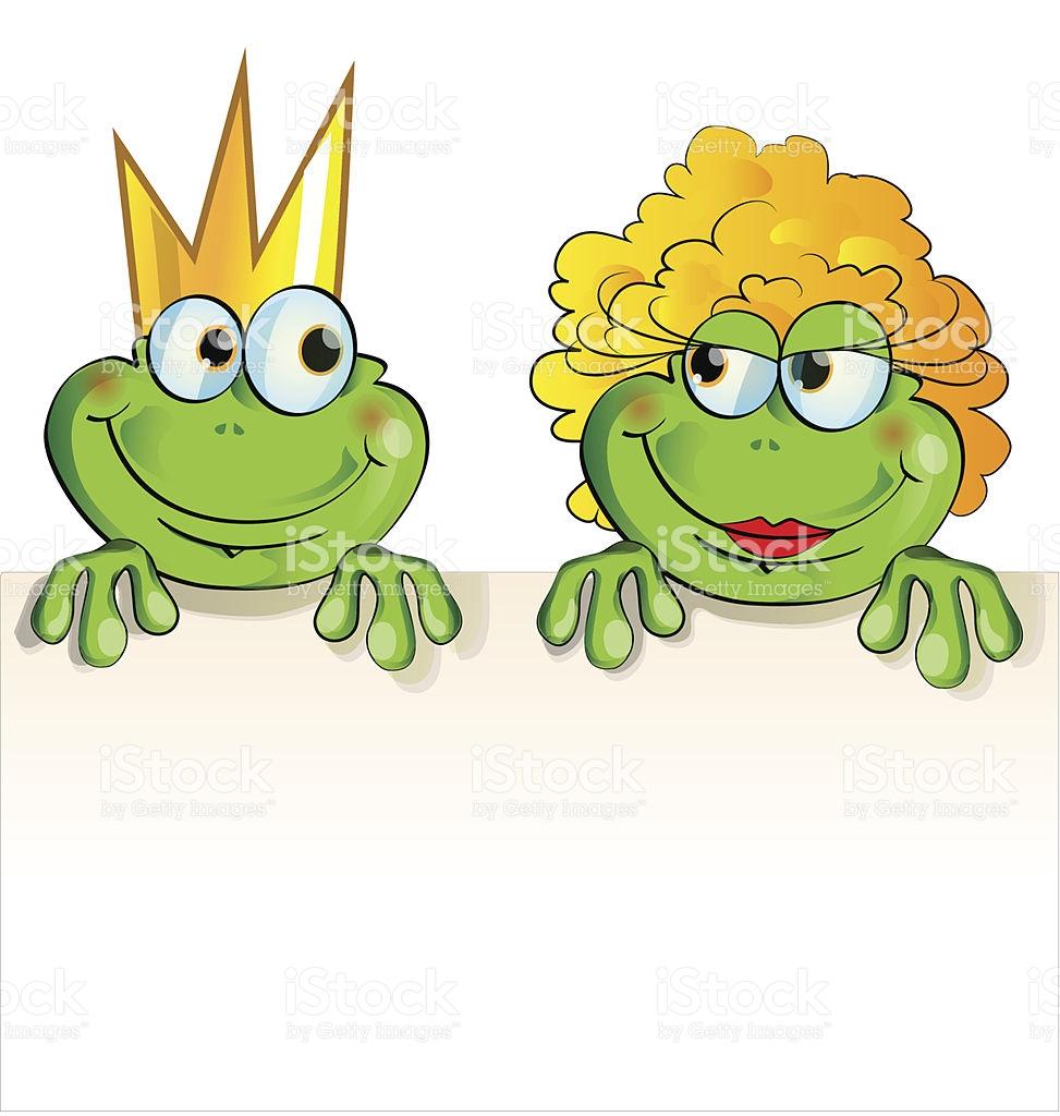 Couple Frog Cartoon stock vector art 510155075.