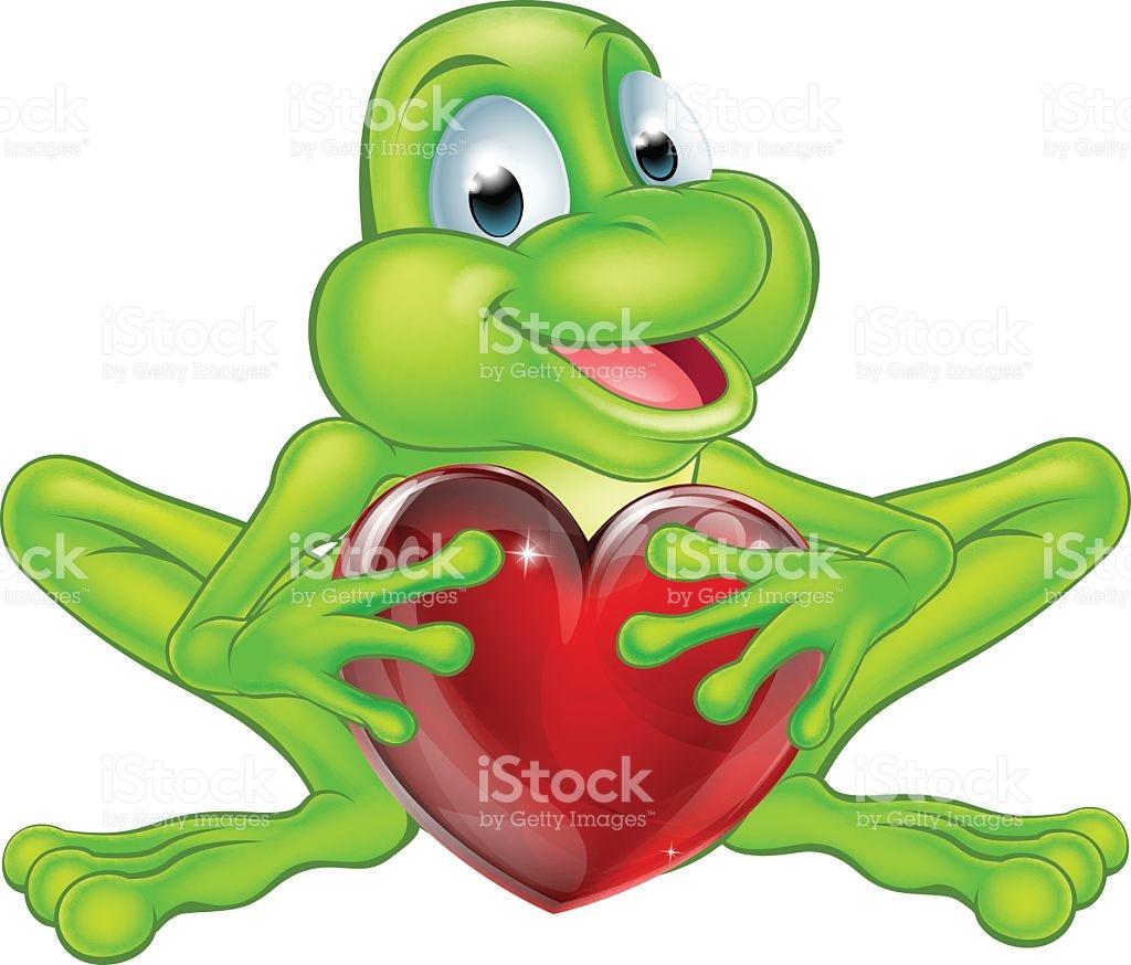 Frog Heart Concept stock vector art 477245690.