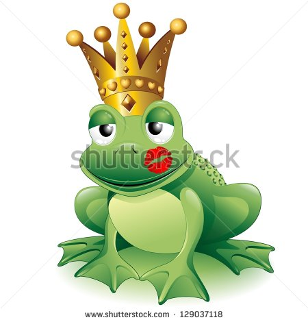 Kiss Frog Stock Images, Royalty.
