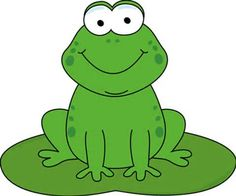 Clipart Frog On Lily Pad.