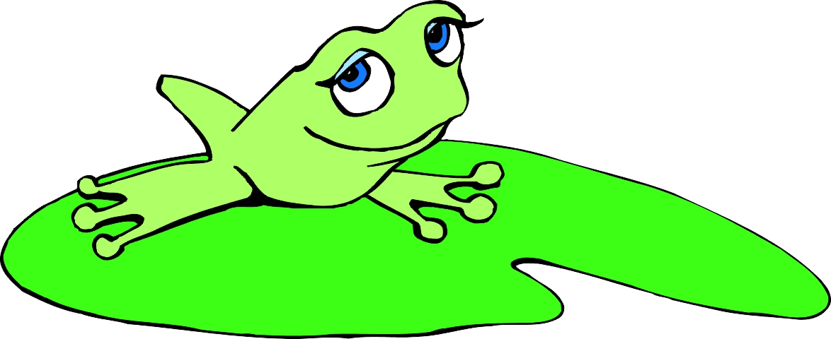 Free Cartoon Frog On Lily Pad, Download Free Clip Art, Free.