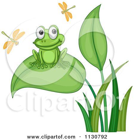 cartoon frogs.