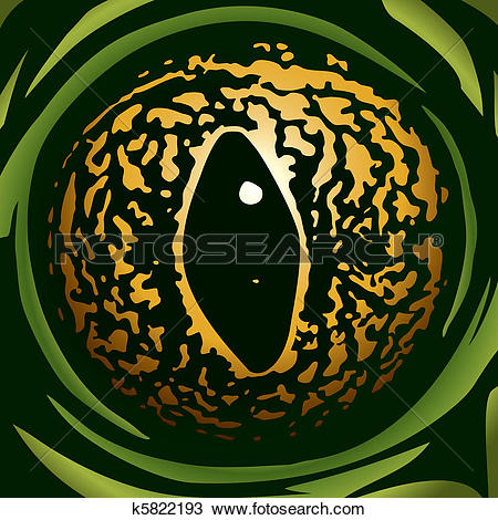 Clipart of frog eye k5822193.