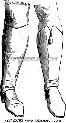 Clipart of Bodyguard boot (1786), a hussar boot.