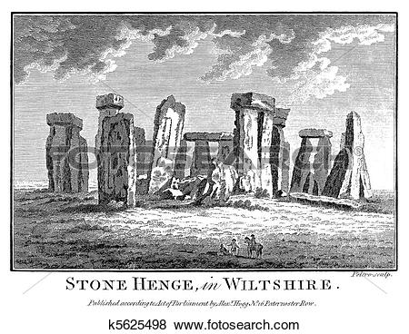 Stock Illustration of Stonehenge in 1786 k5625498.