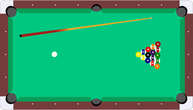 Pool Table From Above Racked Clip Art Download.