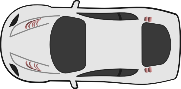 Car Clipart Black And White From Above.