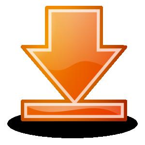 Go Bottom Orange Button Tango Style Clip Art Download.