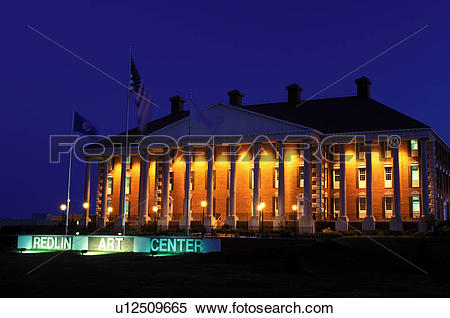 Stock Image of Watertown, SD, South Dakota, Redlin Art Center.