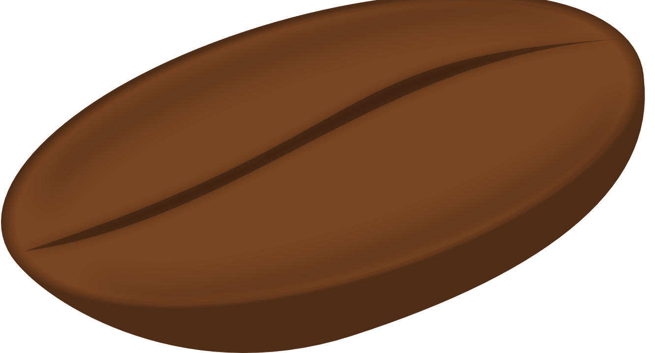 Coffee bean art clipart.