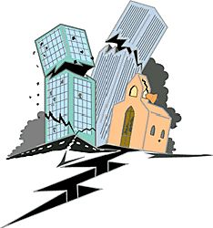 Effects of an earthquake clipart.