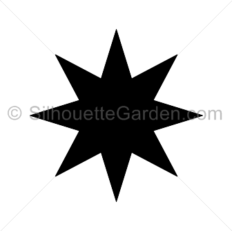 Point Star Silhouette.