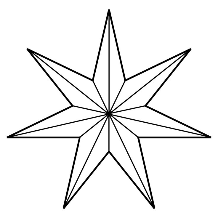 Eight pointed star clipart.