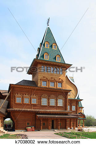 Stock Photo of Wooden palace in Kolomenskoye k7038002.
