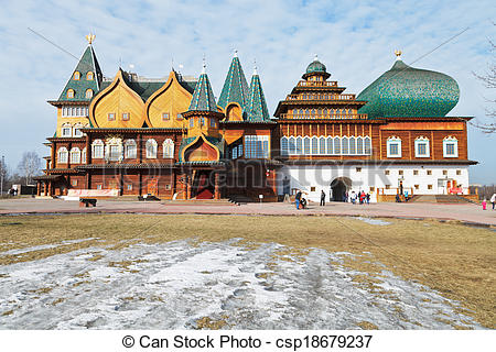Stock Photos of Great Wooden Palace in Kolomenskoe, Moscow.