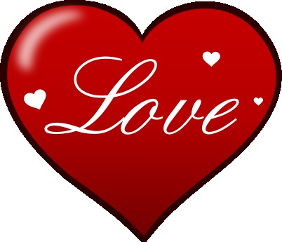 Clip art pictures of love hearts.