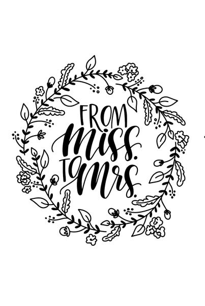 From Miss to Mrs.