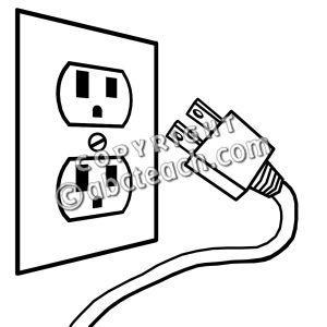 Electricity Plug in Clip Art.