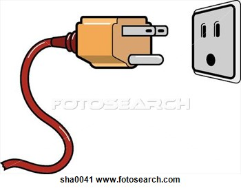 Electric plug clipart.