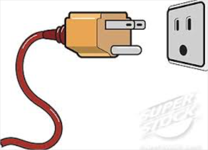 Electrical plug clipart.