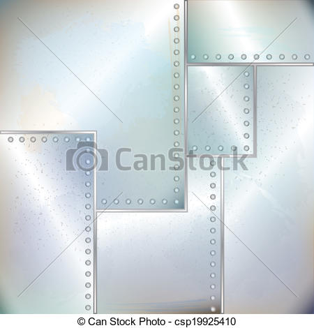 Vector Clip Art of old riveted sheet metal.