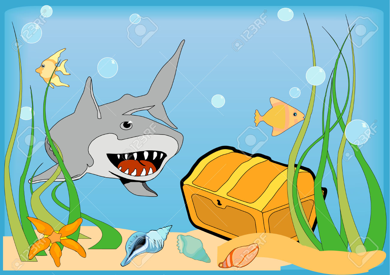 Bottom of the ocean clipart.