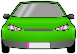 Car clipart from the front.