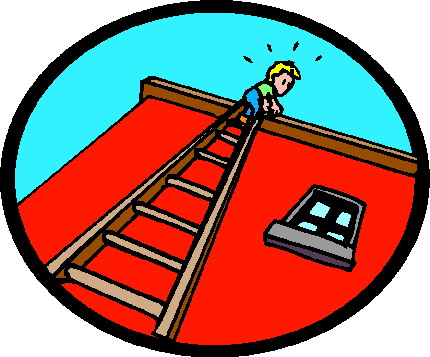 Working at heights clipart.