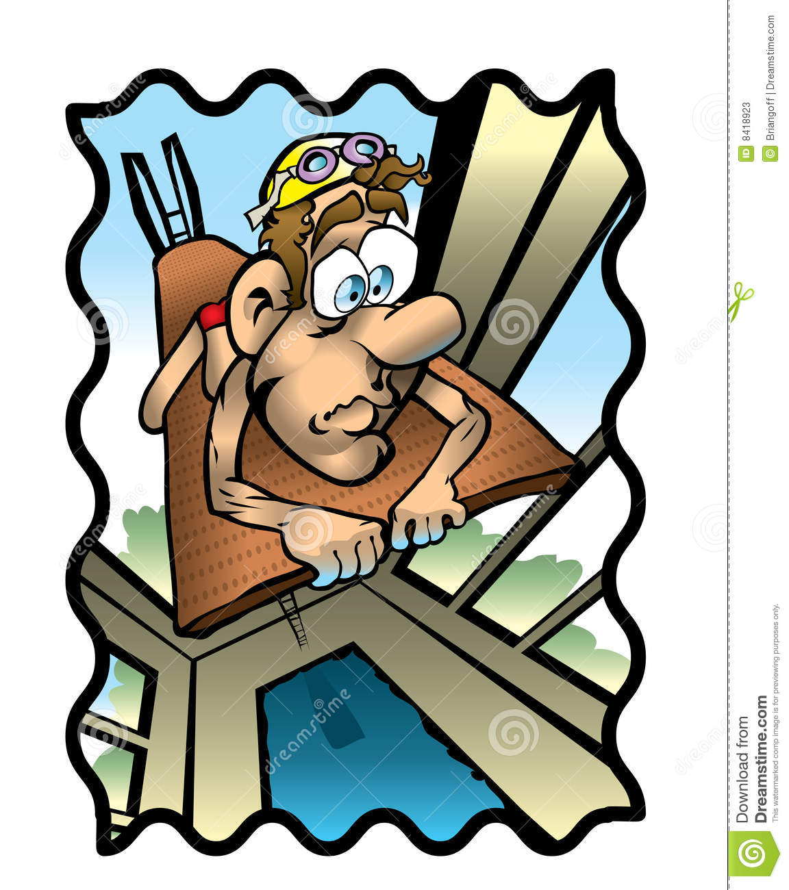 Head for heights clipart #3