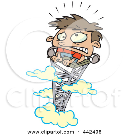 Afraid of heights clipart.