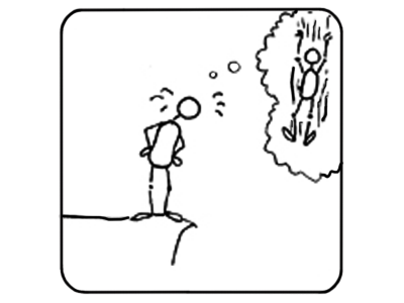 Fear of heights clipart.