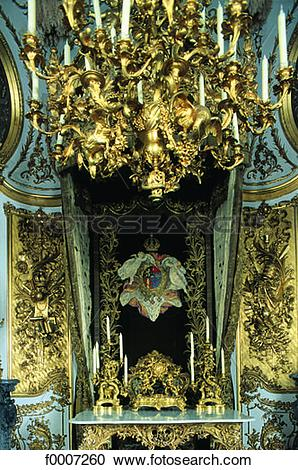 Stock Photography of Germany, Lindenhof Castle, desk Louis II.