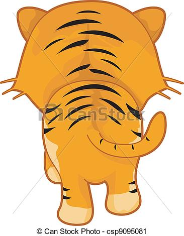 Vector Clip Art of Tiger Back.